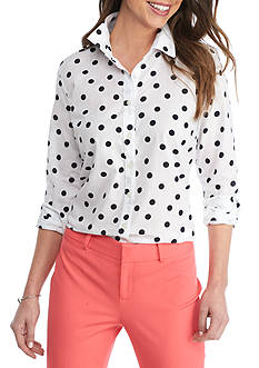 Crown & Ivy™ Scatter Dot Shirt
