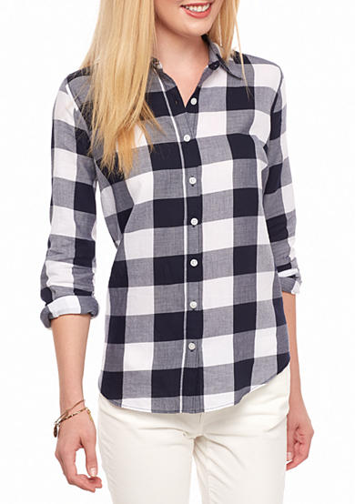 crown & ivy™ Gingham Prep Shirt