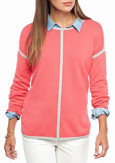 crown & ivy™ Stripe Sweater