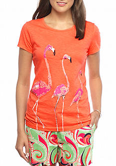 crown & ivy™ Three Amigos Flamingo Tee