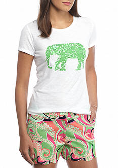 crown & ivy™ Ellie Elephant Tee