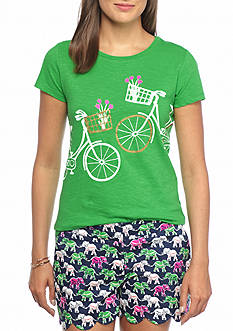 crown & ivy™ Basket Bike Tee