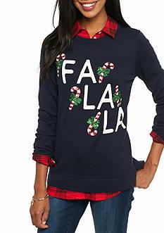 crown & ivy™ Falala Intarsia Sweater