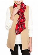 crown & ivy™ Ticking Plaid Scarf
