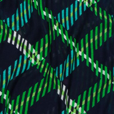 Handbags & Accessories: Wrap Sale: Navy/Green/Ivory crown & ivy™ Ticking Plaid Scarf