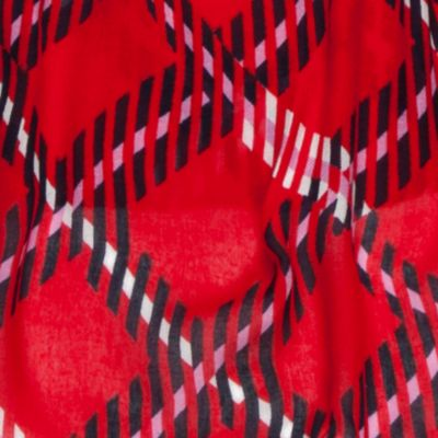 Handbags & Accessories: Wrap Sale: Red/Navy/Ivory crown & ivy™ Ticking Plaid Scarf