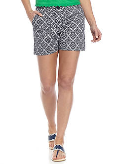 Crown & Ivy™ One Button Printed Shorts