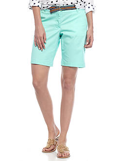 Crown & Ivy™ Belted Twill Short