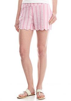 Crown & Ivy™ Scallop Hem Stripe Shorts