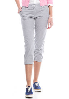Crown & Ivy™ Casual Crop Seersucker Pant