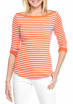 Crown & Ivy™ Stripe Knit Top