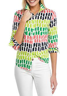 Crown & Ivy™ Multi Color Print Shirt