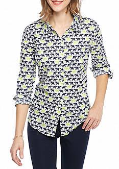 Crown & Ivy™ Elephant Printed Shirt