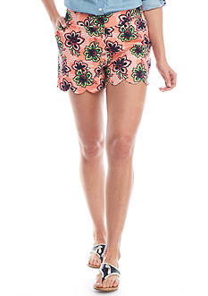 Crown & Ivy™ Scallop Hem Shorts