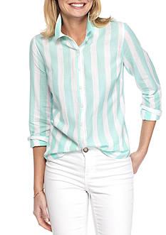 Crown & Ivy™ Even Stripe Shirt