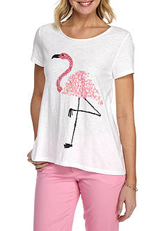 Crown & Ivy™ Flamingo Poetry Tee