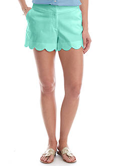 Crown & Ivy™ Solid Scallop Short
