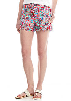 Crown & Ivy™ Scallop Hem Print Short