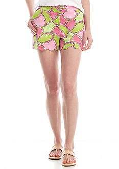 Crown & Ivy™ Print Scallop Hem Short