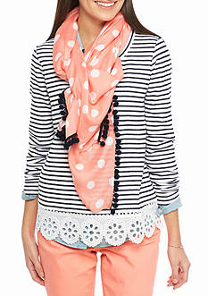 crown & ivy™ Ditto Dot Mix Scarf