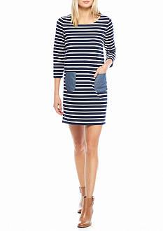 Crown & Ivy™ 3/4 Sleeve Pocket Dress