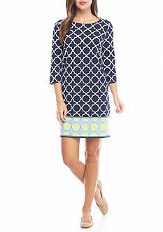 Crown & Ivy™ Three-quarter Sleeve Knit Dress