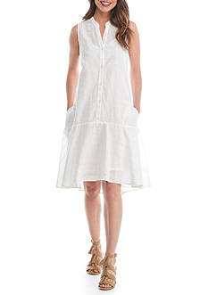 Crown & Ivy™ Button Down Eyelet Dress