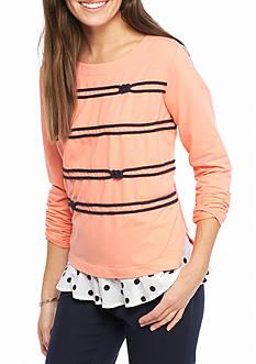 Crown & Ivy™ 2fer Graphic Sweatshirt