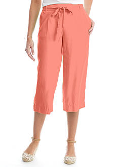 Crown & Ivy™ Woven Wide Leg Crop Pants