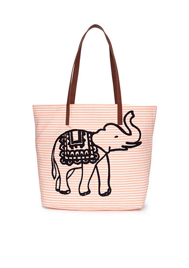 crown & ivy™ Stripe Ellie Tote