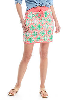 Crown & Ivy™ Printed Terry Skort