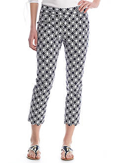 Crown & Ivy™ Print Scallop Hem Pant