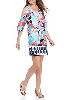Crown & Ivy™ Cold Shoulder Woven Dress