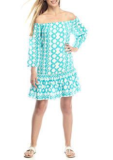 Crown & Ivy™ Printed Ruffle Hem Dress