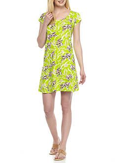 Crown & Ivy™ Print Knit Cut Out Dress