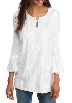 Crown & Ivy™ Solid Knit Peasant Top