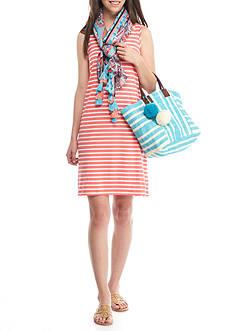 Crown & Ivy™ Sleeveless Stripe Knit Dress