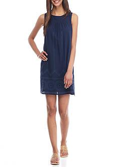 Crown & Ivy™ Sleeveless Eyelet Dress