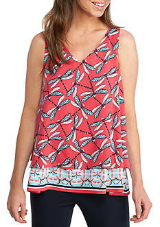 Crown & Ivy™ Double Layer Sleeveless Top