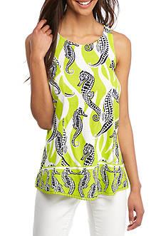 Crown & Ivy™ Seahorse Print Swing Tank