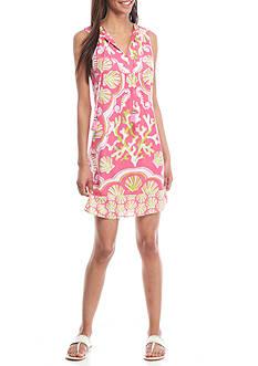 Crown & Ivy™ Sleeveless Tassled Bib Dress