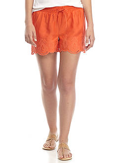 Crown & Ivy™ Embroidered Pull-On Short
