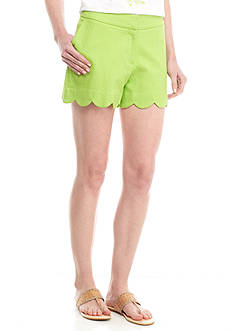 Jacquard Scallop Short