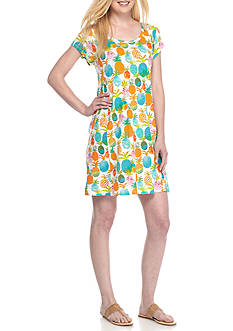 Crown & Ivy™ Pineapple Print Swing Dress
