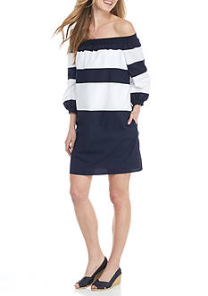 Crown & Ivy™ Wide Stripe Dress