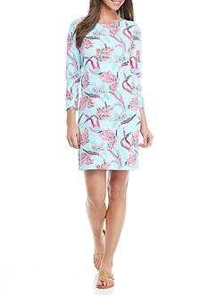 Crown & Ivy™ Three Quarter Sleeve Piechem Dress