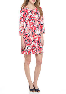 Crown & Ivy™ Print Knit Swing Dress
