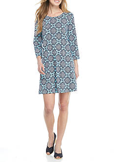 Crown & Ivy™ Print Knit Swing Dress