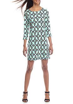 Crown & Ivy™ Three Quarter Sleeve Dress
