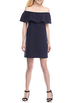 Crown & Ivy™ Off The Shoulder Textured Dress